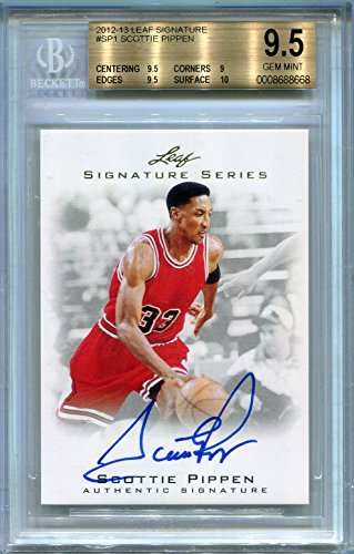 (Scottie Pippen Chicago Bulls BGS Certified Authentic Autograph - 2012 Leaf Signature (Autographed Basketball Cards))