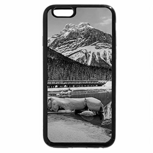 iPhone 6S Plus Case, iPhone 6 Plus Case (Black & White) - Winter Reflection