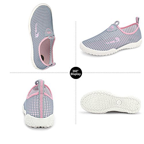 Camel Mens Slip On Sneakers Casual Shoes Breathable Mesh Low Top Lightweight Sneakers for Women Walking Unisex Shoes for Couples Size 6.5,Gray/Pink