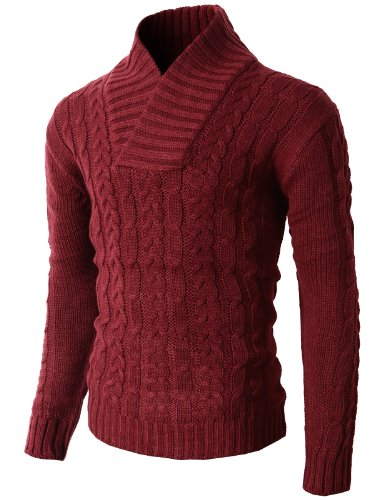 H2H-Mens-Casual-Shawl-Collar-Twist-Knitted-Thermal-Pullover-Sweater