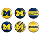 WinCraft NCAA University of Michigan WCR90393013 Round Button (6 Pack), 2''