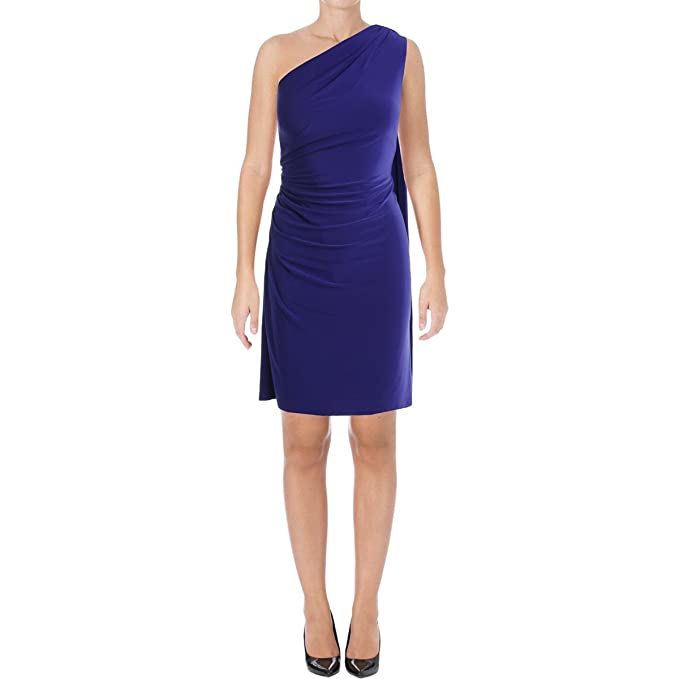 b469a1ff0fd LAUREN RALPH LAUREN Womens Akando One Shoulder Party Cocktail Dress at Amazon  Women's Clothing store: