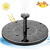 Solar Bird Bath Fountain Pump, Outdoor Floating Water Pump, 1.4W Solar Panel Kit Submersible Pump for Pond, Pool, Garden, Fish Tank, Aquarium