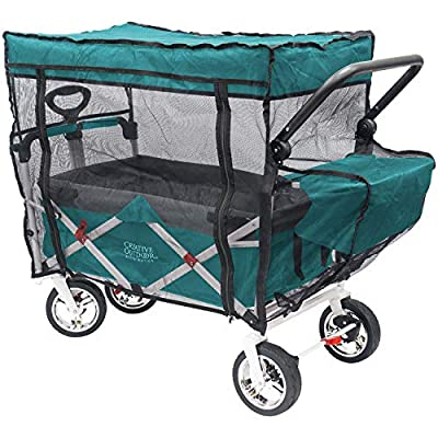 Creative Outdoor Push Pull Folding Wagon Bug NET, Black (Wagon Sold Separately)