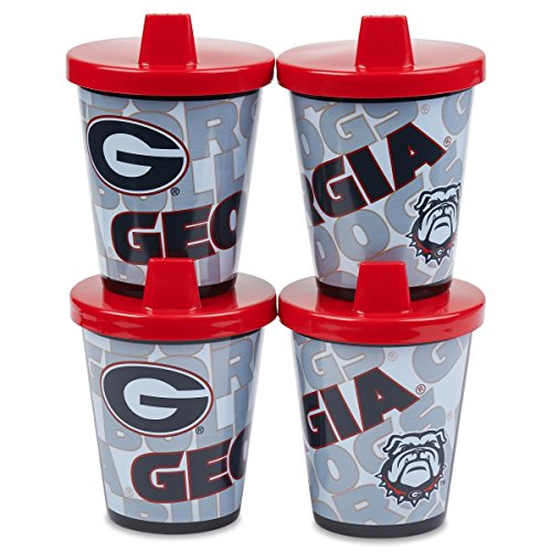 On-The-Go Sippy Cup | Official NCAA University of Georgia Licensed Product | 7 oz, 4 Count Pack