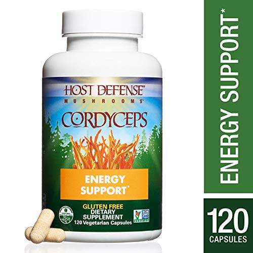 Host Defense – Cordyceps Mushroom Capsules, Naturally Helps Energy, Stamina, Endurance, and Oxygen Uptake to Support Athletic Activity, Non-GMO, Vegan, Organic, 120 Count For Sale