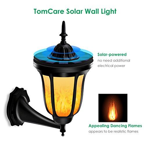 TomCare Solar Lights Solar Torches Lights Flickering
