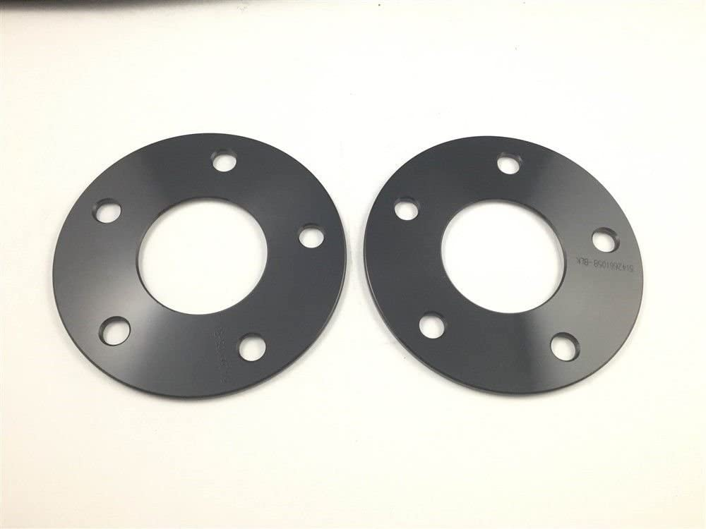 2 Pieces 3//16 5mm Custom Black Hub Centric Wheel Spacers Adapters Bolt Pattern 5x120 to 5x120 Center Bore 66.9mm