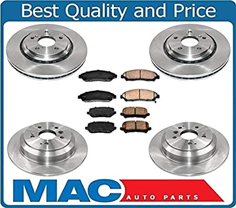 Brake Pads And Rotors Prices >> Amazon Com 100 New Front Rear Brake Rotors Brake Pads