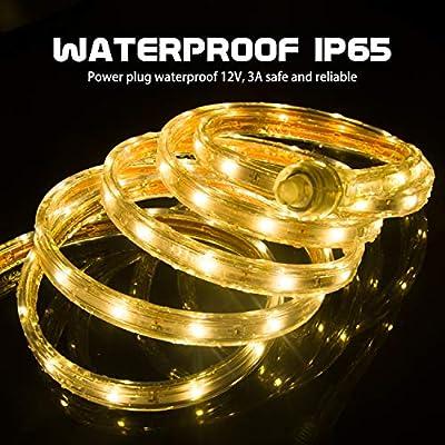 GuoTonG 12V LED Strip Rope Lights Waterproof