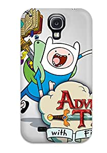 Awesome Adventure Time Flip Case With Fashion Design For Galaxy S4