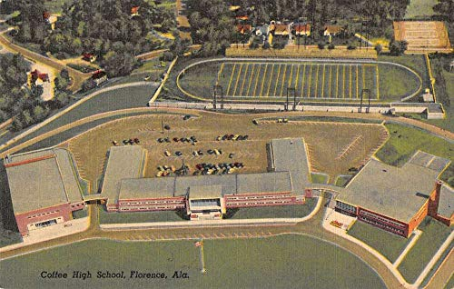 Florence Alabama aerial view Coffee High School antique pc ()