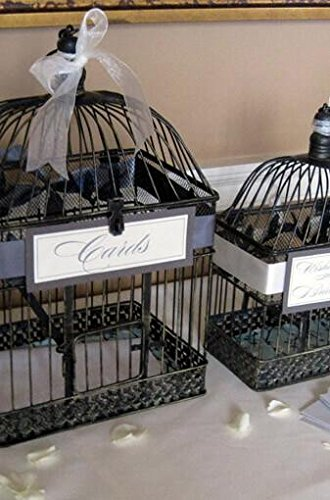 Richland Vintage Birdcages Black Metal Set of 2