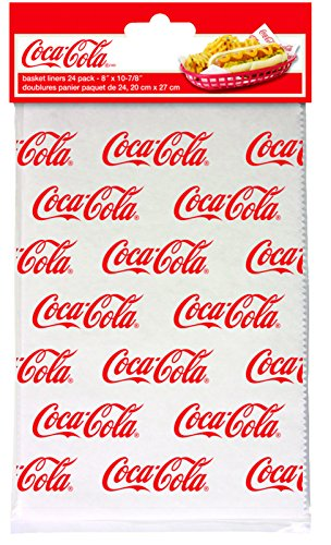Paper Coca Cola - Tablecraft CC375 Coca-Cola Logo Printed Basket Liners, Red