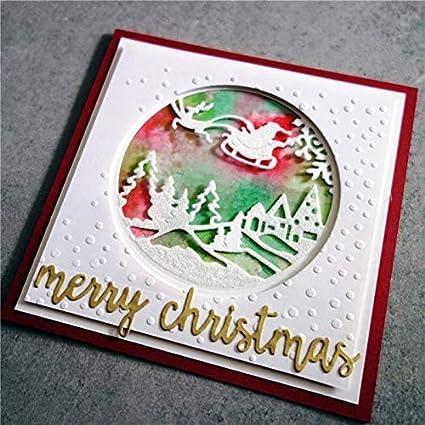 Santa Snow Globe Christmas Metal Cutting Dies Craft Die Scrap Booking Winter New