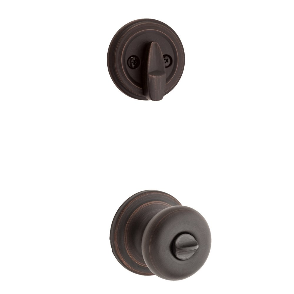 Kwikset 978J-11P Juno Interior Single Cylinder Montara Handleset Trim Venetian Bronze Finish