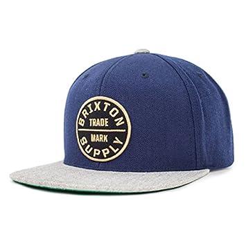 Brixton Ltd. Men s Oath 3 Snapback Hat Navy Light Heather Clothing Cap   Amazon.co.uk  Sports   Outdoors 7f1208faa0bf