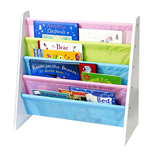 KiddyPlay Wooden Book Storage Rack - Pastel