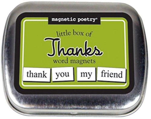 Magnetic Poetry Petite boîte avec Merci