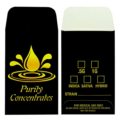 500 Purity Concentrate Extract Shatter Strain Labels Envelopes #170 by Shatter Labels