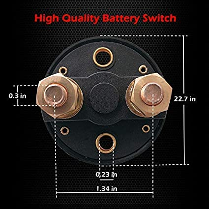 12-48 V Battery Power Cut Master Switch Disconnect Isolator for Car RV and Boat Vehicle On//Off Ampper Battery Switch