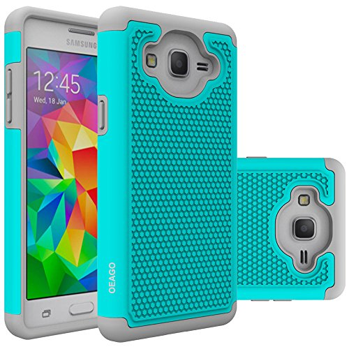 Galaxy On5 Case, OEAGO Samsung Galaxy On 5 Case Cover Accessories - Shock-Absorption Dual Layer Defender Protective Case Cover For Samsung Galaxy On5 G550 - Teal
