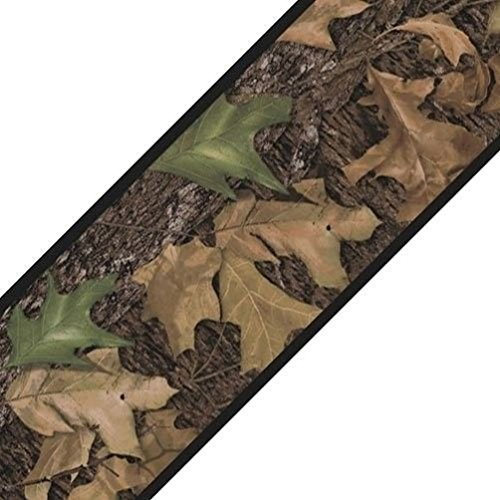 Oak Leaf Tile (Lunarland LEAF HUNTING CAMO 15' Wall Sticker Border MOSSY OAK Wallpaper Room Decor Woods)