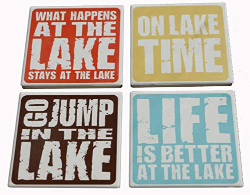 Lake Sayings Coasters - Lakehouse Gift