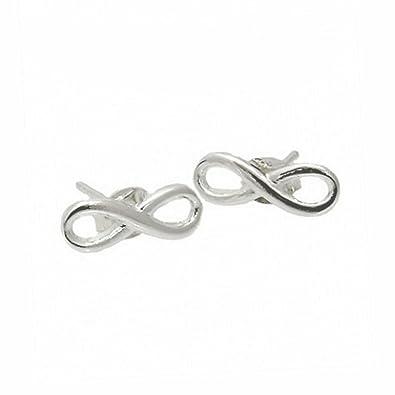 infinity earrings. apop nyc sterling silver infinity stud earrings [jewelry]