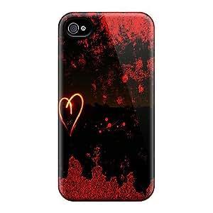 Bernardrmop Perfect Tpu Case For Iphone 4/4s/ Anti-scratch Protector Case (heart Light)