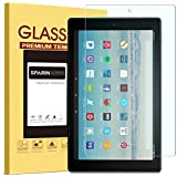 All-New Fire HD 10 Screen Protector, SPARIN Tempered Glass Screen Protector with Strong Protection / Bubble Free / Scratch Resistant for All-New Fire HD 10 Tablet