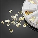 Nail Art 3D Slice Golden Christmas Sticker Design Decoration Wheel