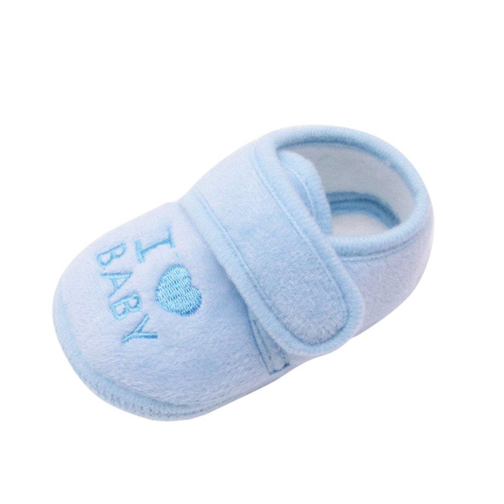 cinnamou Babyschuhe, I Love Baby Baby Weiche Sohle Schuhe Krippe Schuhe Neugeborenen Krabbelschuhe Junge Mädchen 0-6 Monate 6-12 Monate 12-18 Monate