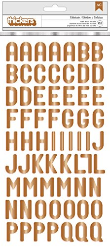 - American Crafts Pink Paislee Birthday Bash Alpha Copper Foil Thickers Celebrate 205 Piece