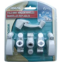 Ideal Security Inc. SK927W-6 Fold Away Handle Window Crank, White