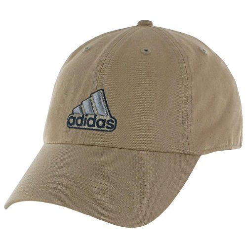 Baseball Golf Visor - adidas Men's Ultimate Relaxed Fit Cap, Washed Khaki/Collegiate Navy, One Size