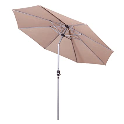Shilucheng 9' Outdoor Patio Offset Market Crank Umbrella Auto Tilt