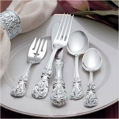 Francis Cream Soup Spoon - Reed & Barton Francis I 5 Pc Place Setting, Place size With Cream Soup Spoon