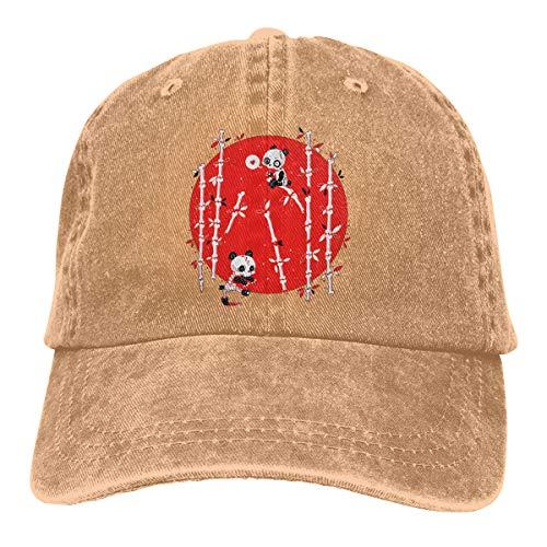 LETI LISW Unisex Zombie Pandas Trucker Hat Casual Baseball Cap Washed Hat