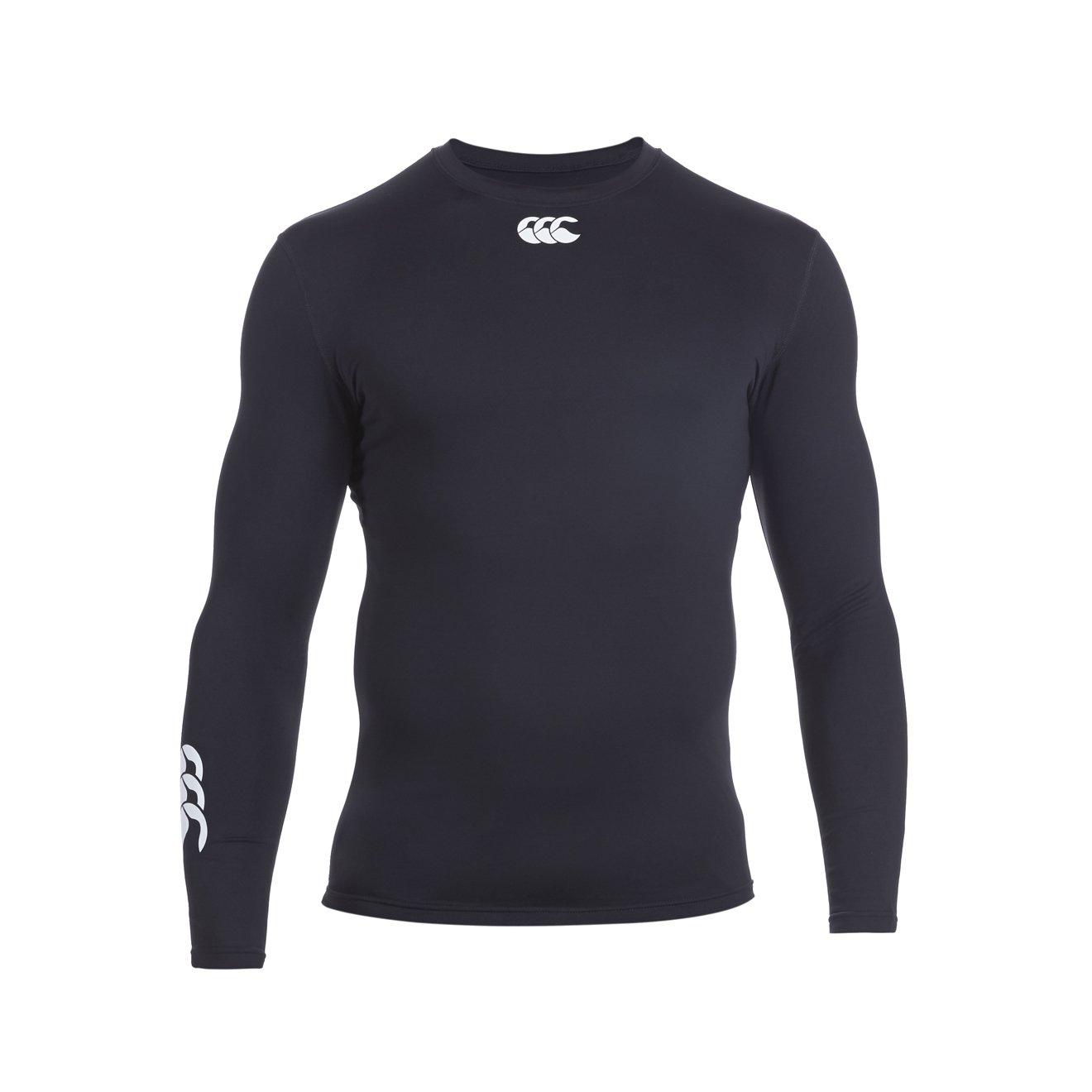 Canterbury of New Zealand Mens Long Sleeve Cold Baselayer Shirt Black E542640