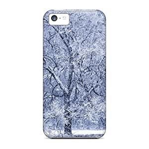 For Iphone 5c Tpu Phone Case Cover(snowing)