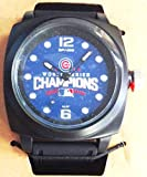 Chicago Cubs 2016 Champions World Series PROMPT Watch Color Black Band Baseball …