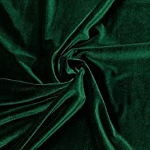 "SILK RAYON VELVET HUNTER GREEN SOLID FABRIC (HUNTER GREEN, 36"" INCHES BY THE YARD)"