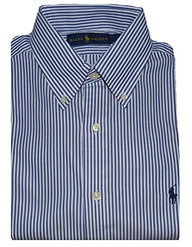 Polo Ralph Lauren Men's Pony Logo Striped Dress Shirt (16 34-35, - Ralph Lauren Striped