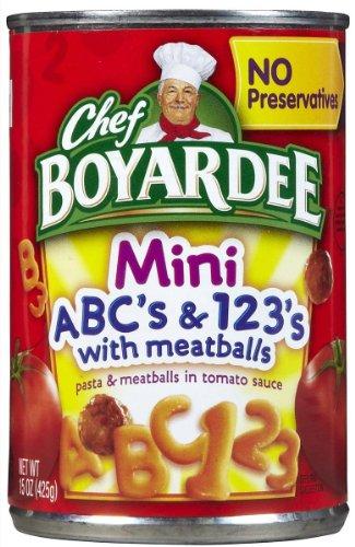 Chef Boyardee Mini Bites - Chef Boyardee Mini-Bites ABC's & 123's w/Meatballs-15 oz