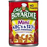 Chef Boyardee Mini-Bites ABC's & 123's w/ Meatballs-15 oz