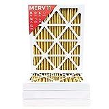 16x20x2 MERV 11 (MPR 1000) AC Furnace 2'' Inch Air Filter - 4 Pack