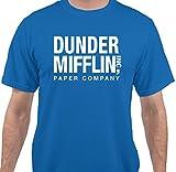 The Office TV Show Dunder Mifflin Paper Mens Women T-Shirt - Royal Blue - Small