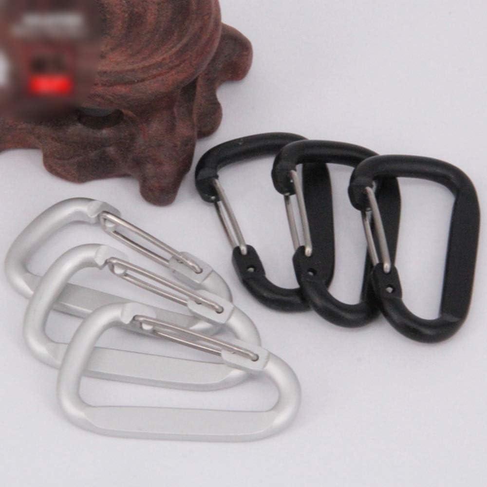 3*Heart Steel Carabiner Snap Spring Loaded Clip Hook Karabiner Locking Carabina
