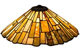 Meyda Home Decorative Art Stained Glass Lamp Fixture21''W Delta Jadestone Replacement Shade